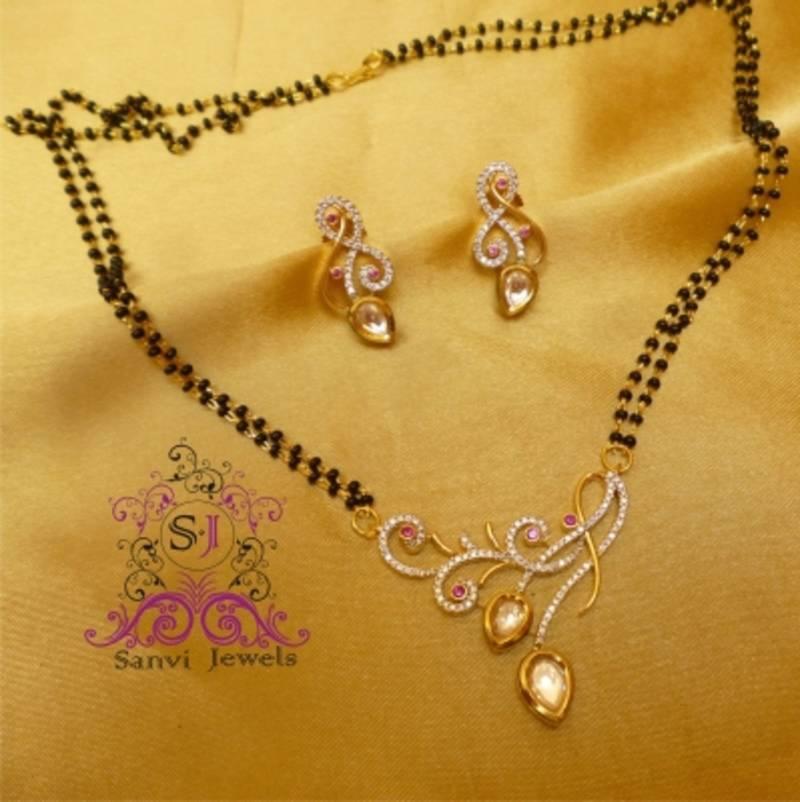 Buy Designer Fusion Kundan Mangalsutra Online