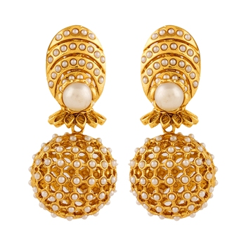 071cb28cd92b7 Adwitiya collection 24k gold plated ethnic jhumki earring for women
