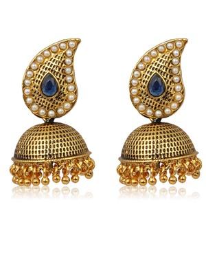 Adwitiya Collection  24K Gold Plated Ethnic Jhumki Earring For Women