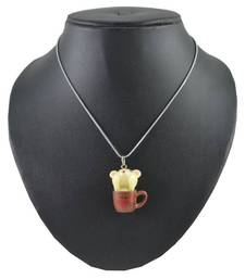 Buy ANGEL GLITTER SNEAKY IN MY BROWN CUP NECKLACE gifts-for-kid online