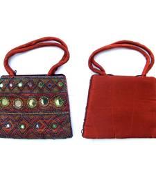Buy Maroon silk Bag  handbag online