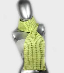Buy Smart Crochet Stole | Light Green stole-and-dupatta online