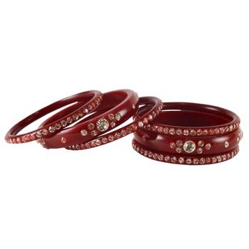 Extra Large Size  Acrylic Bangles Color Maroon