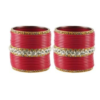 Extra Large Size  Brass & Acrylic Bangles Color Gajri