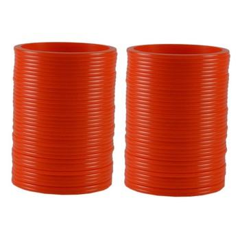 Extra Large Size  Acrylic Bangles Color Orange