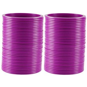 Extra Large Size  Acrylic Bangles Color Purple