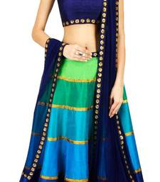 Buy Multicolor embroidered georgette unstitched lehenga choli pakistani-lehenga online
