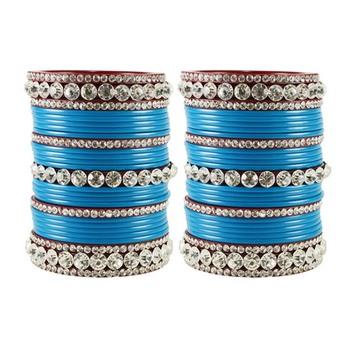 Extra Large Size  Acrylic Bangles Color Light Blue & Maroon