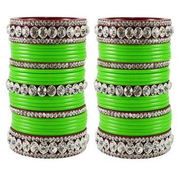 Extra Large Size  Acrylic Bangles Color Green & Maroon