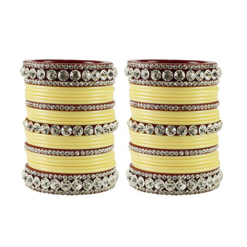 Extra Large Size  Acrylic Bangles Color Cream & Maroon