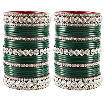 Extra Large Size  Acrylic Bangles Color Dark Green & Maroon