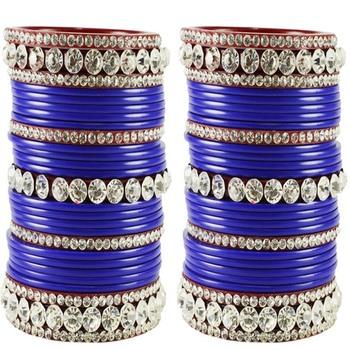 Extra Large Size  Acrylic Bangles Color Blue & Maroon
