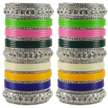 Extra Large Size  Brass & Acrylic Bangles Color Multicolor