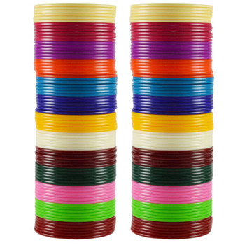 Extra Large Size  Acrylic Bangles Color Multicolor