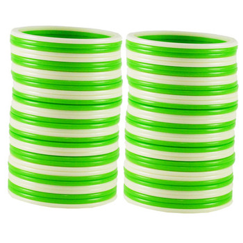 Extra Large Size  Acrylic Bangles Color Green & White