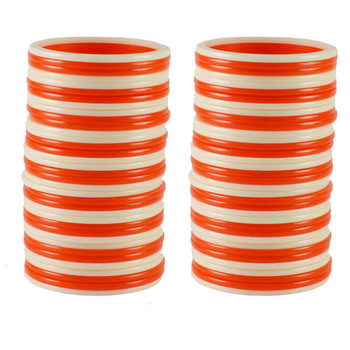 Extra Large Size  Acrylic Bangles Color Orange & White