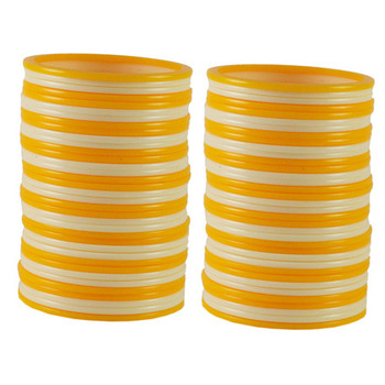 Extra Large Size  Acrylic Bangles Color Yellow & White