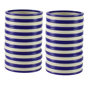 Extra Large Size  Acrylic Bangles Color Dark Blue & White