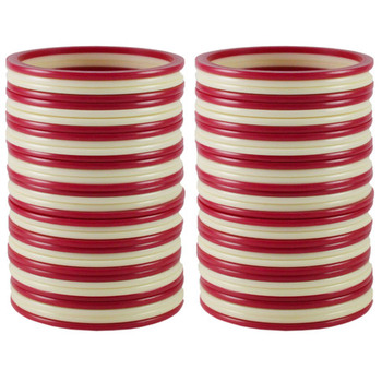 Extra Large Size  Acrylic Bangles Color Pink & White