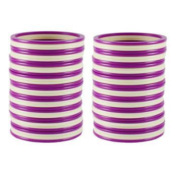 Extra Large Size  Acrylic Bangles Color Purple & White