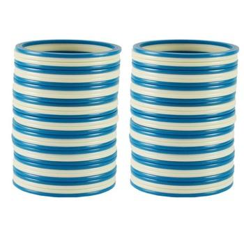 Extra Large Size  Acrylic Bangles Color Light Blue & White