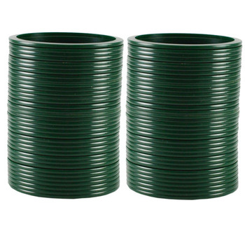 Extra Large Size  Acrylic Bangles Color Dark Green