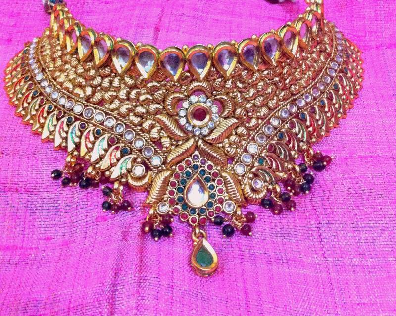 hover buy mango ethnic women gold to zoom for necklace open payal pajeb marriage thumb festival product dzinetrendz jewellery anklet mouse wedding traditional shape view plated kairi bridal