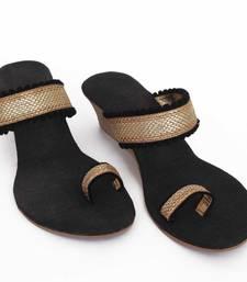 Bold Black stylish Wedges
