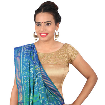 ade995dabcd233 Dust golden brocade embroidery padded readymade blouse - muhenera s - 930663