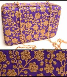 Purple clutches embroidered