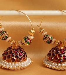 Buy GORGEOUS HUGE HOOP TEMPLE DESIGNER EARRINGS-DJ04304 hoop online