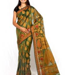 Supernet Cotton  Fancy  Banarasi  Border  Aanchal  Saree shop online