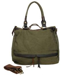 Just Women Light Olive Canvas Handbag shop online
