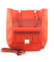Buy Orange fashion tote bag gifts-for-girlfriend online