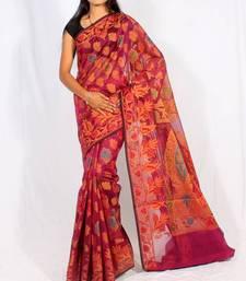 Organza cotton fancy banarasi saree shop online