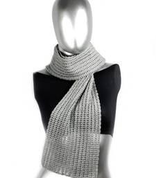 Buy Smart Crochet Stole | Ash Grey stole-and-dupatta online