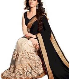 Buy Black embroidered georgette saree with blouse tamanna-bhatia-saree online