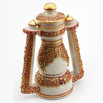 Marvel In Marble - Gold Embossed Real Lantern_73