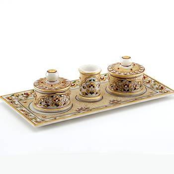 Marvel In Marble - Gold Embossed Utility Tray Set_76
