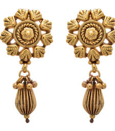 Golden gold plated  danglers drops