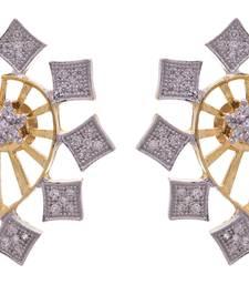Golden gold plated american diamond studs