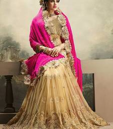 Buy Multicolor embroidered net saree with blouse bridal-saree online
