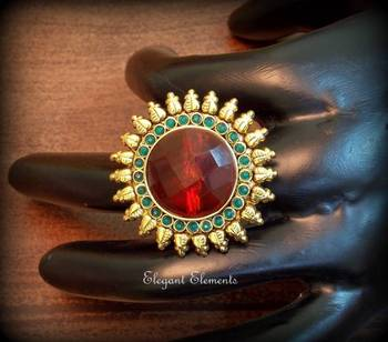 Hot sale!!!!! colored stone cocktail ring, adjustable ring038