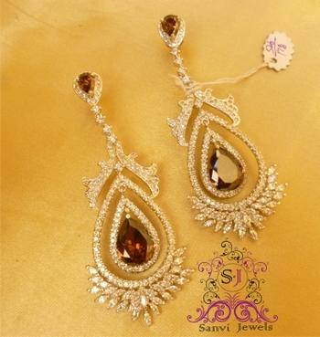 Elegant Wine & Marquese Earring