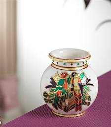 Buy Marble Pot with Gold work pot online