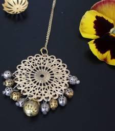 Buy silver and gold maang tikka maang-tikka online