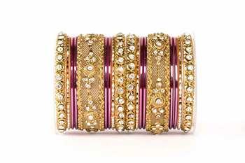 Purple Zircon   Enamel Bangles And Bracelets