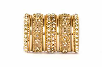 Golden Zircon   Enamel Bangles And Bracelets