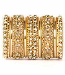Golden zircon   enamel bangles and bracelets
