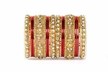 Red Zircon   Enamel Bangles And Bracelets
